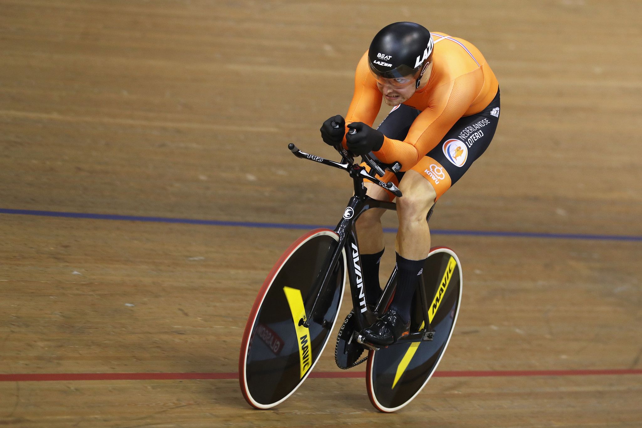 Matthijs Buchli won the men's keirin at the last Track Cycling World Cup in London ©Getty Images