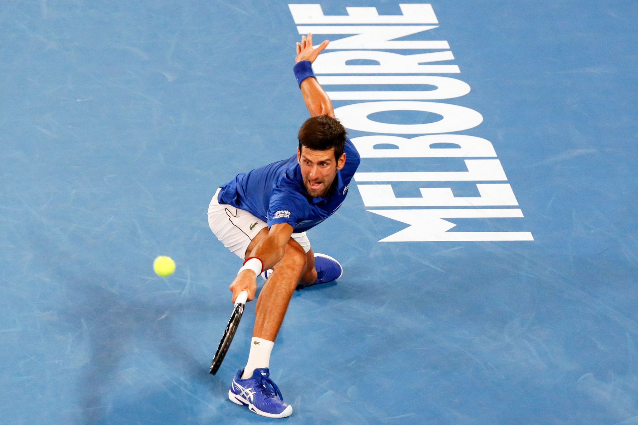 World number one Novak Djokovic eased into the third round of the men's singles draw ©Getty Images