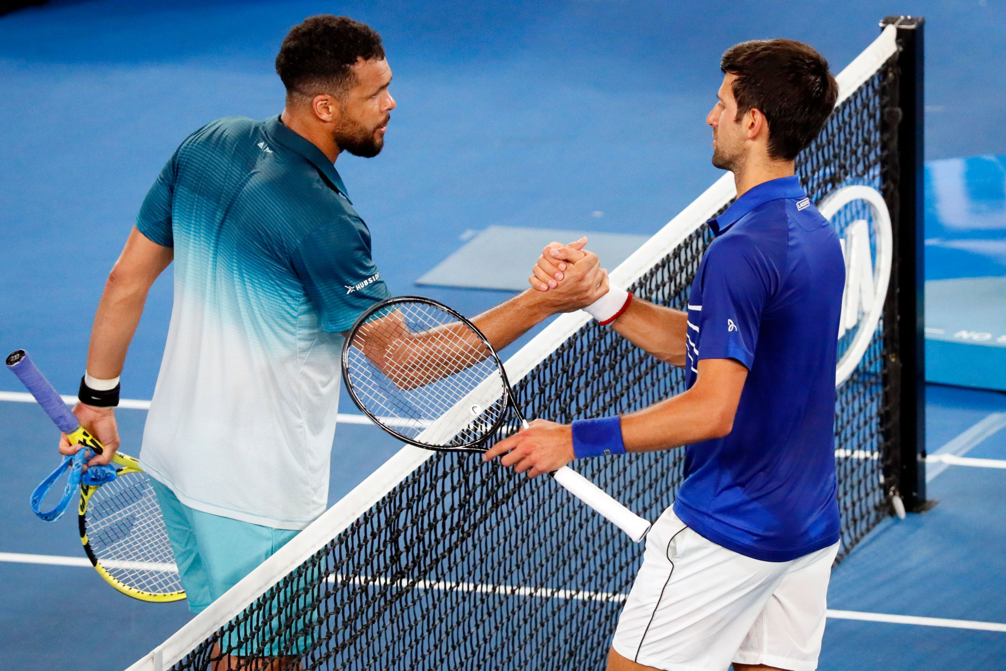 The Serbian beat Jo-Wilfried Tsonga of France in a repeat of the 2008 Australian Open final ©Getty Images