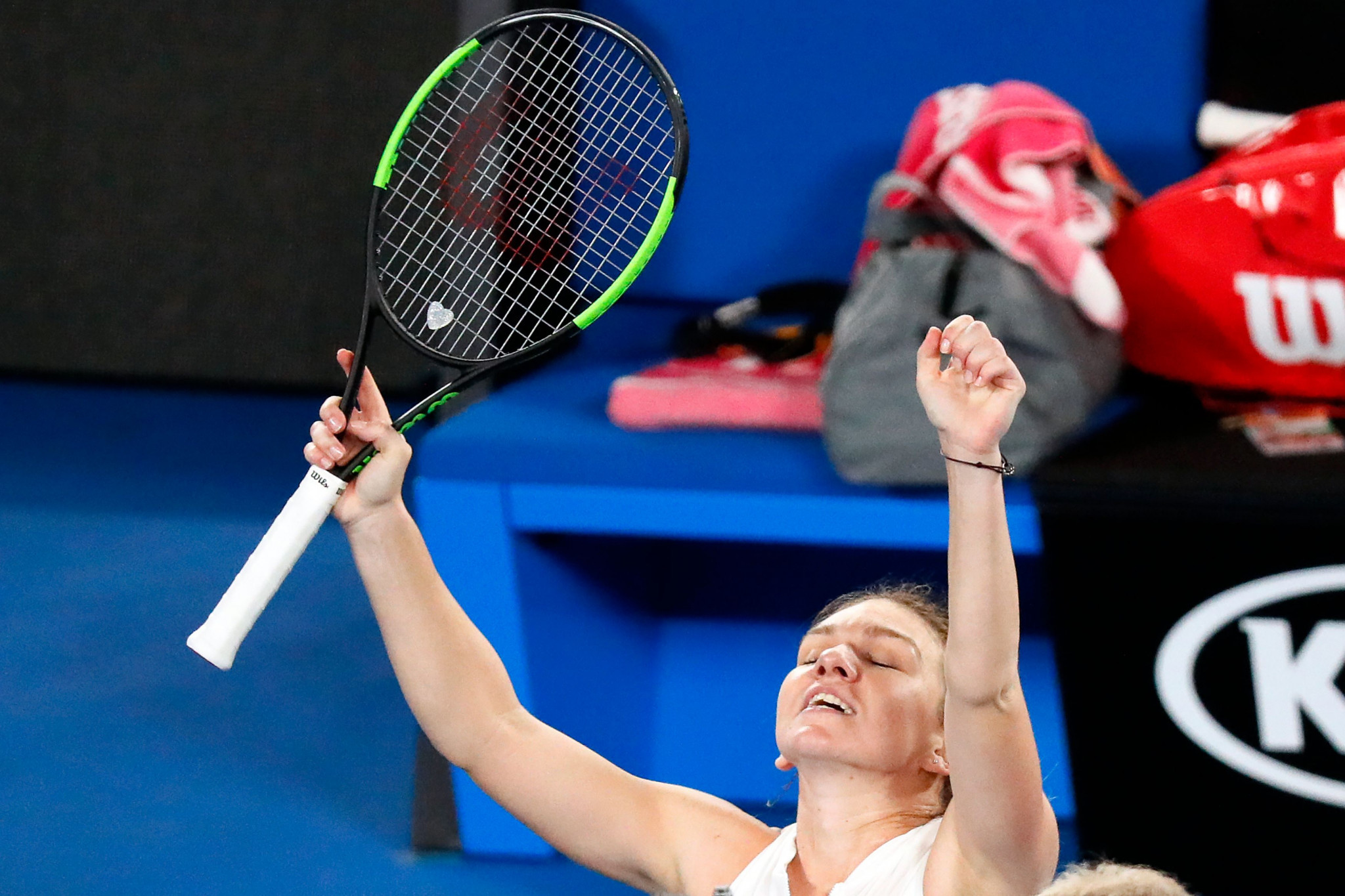 Women's world number one Simona Halep survived a scare as she needed three sets to get past Sofia Kenin of the United States ©Getty Images