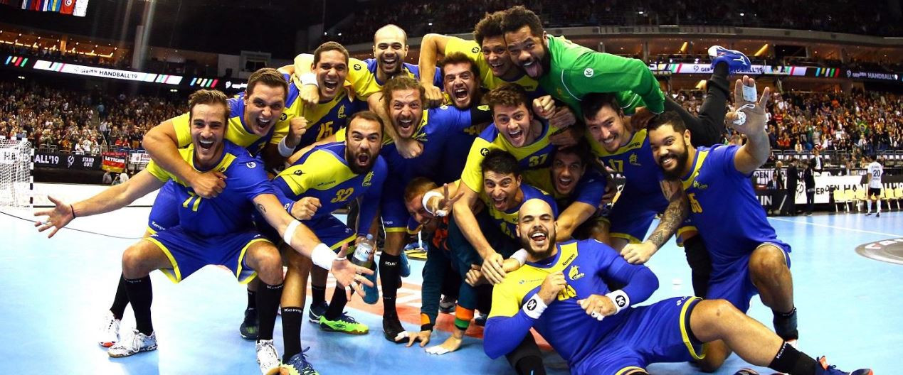 Brazil win again to reach main round for first time at IHF Men's World Championships