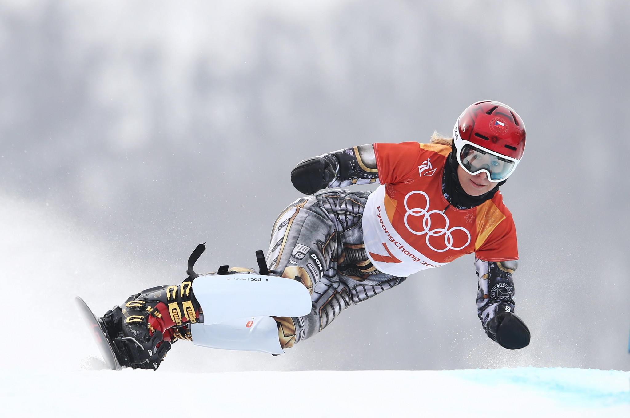 Czech Republic's Ester Ledecká is among the medallists from the Pyeongchang 2018 Winter Olympic Games in contention for an award ©Getty Images