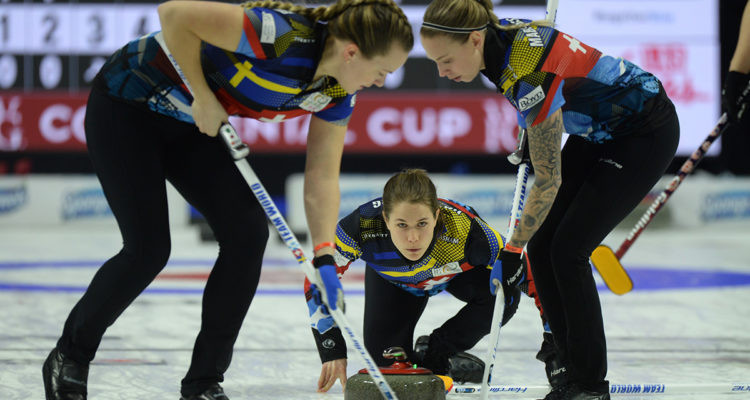Team World win all nine games on opening day of Continental Cup of Curling