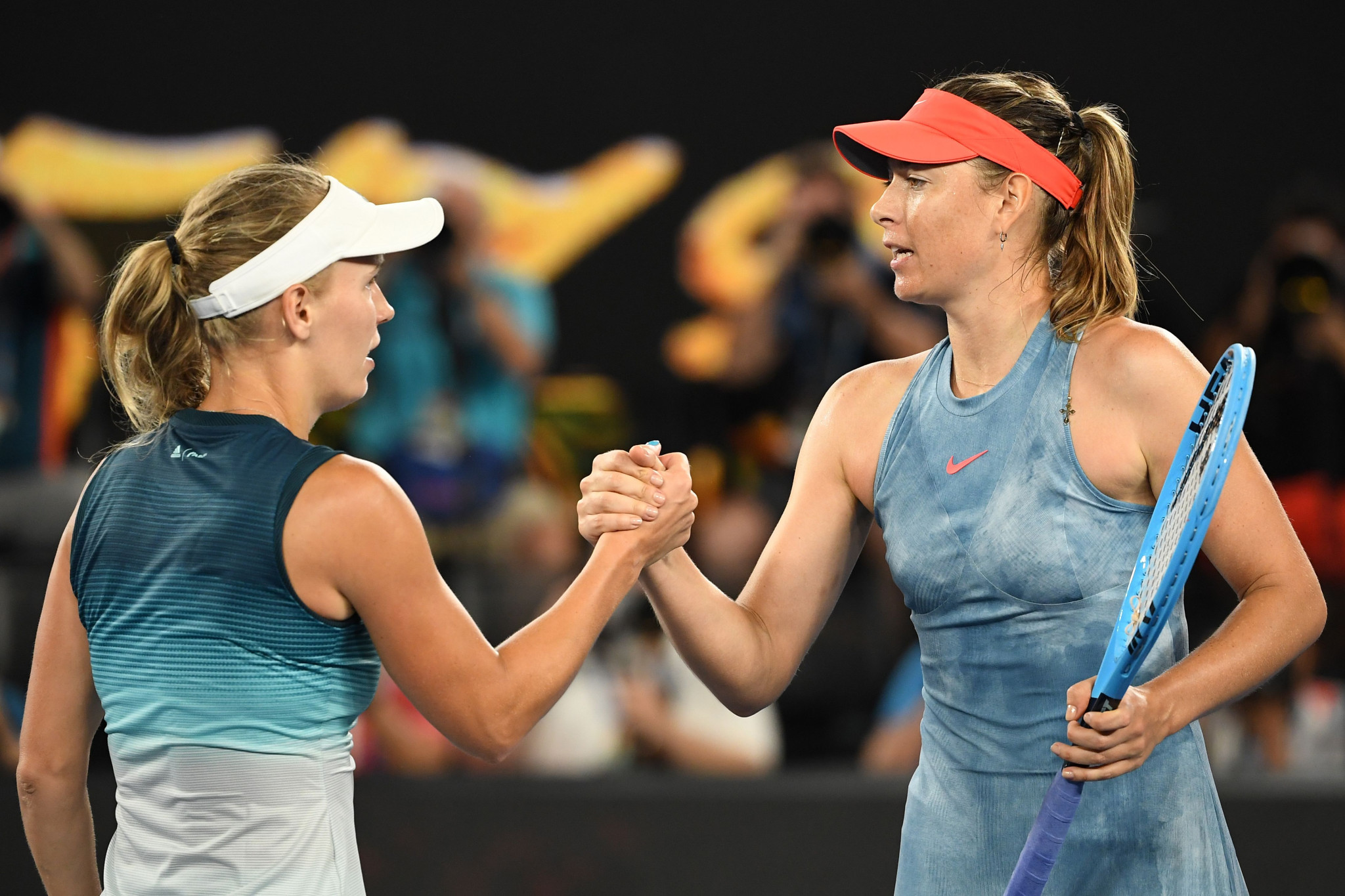 Wozniacki title defence ended by Sharapova at Australian Open