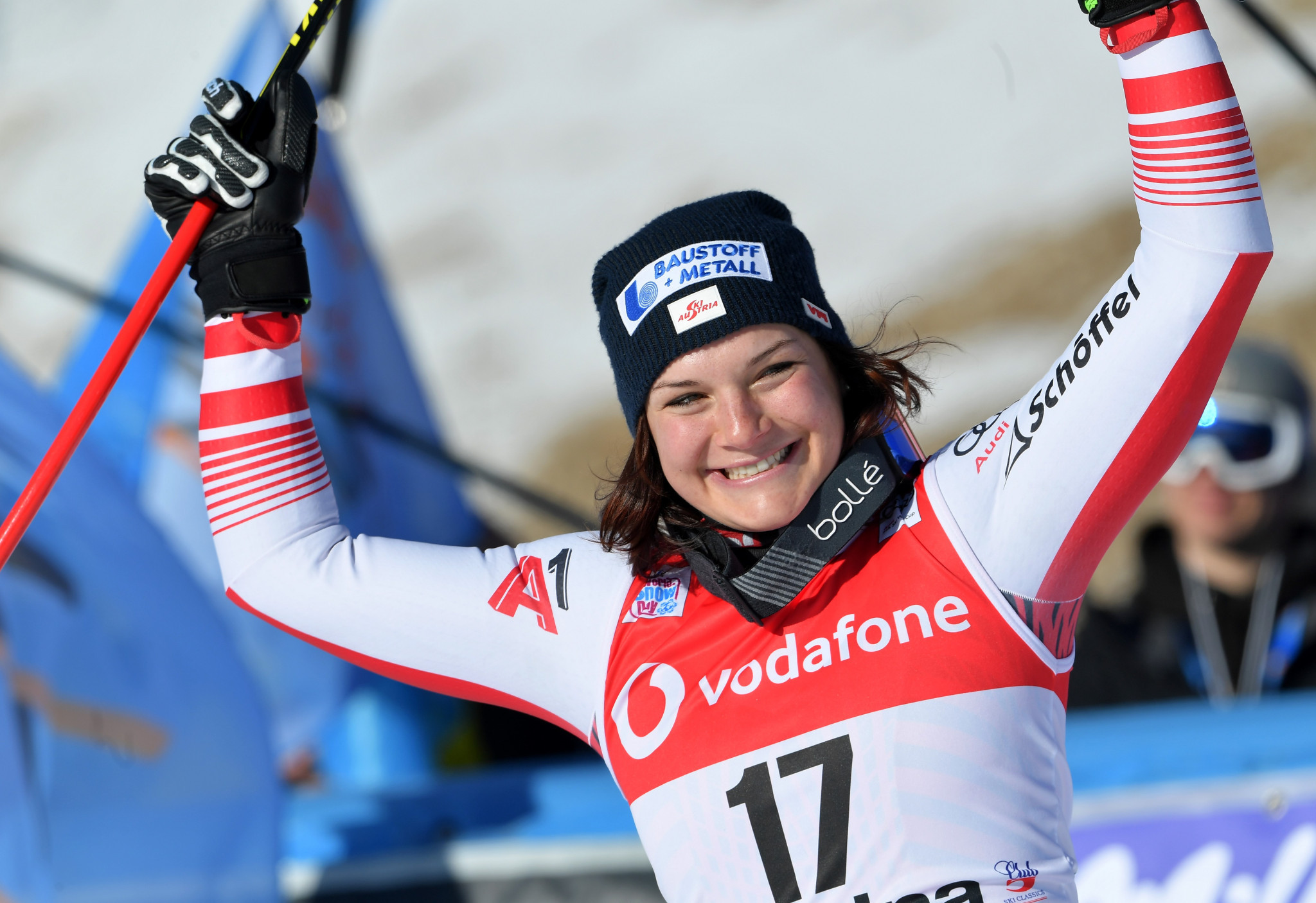 Ramona Siebenhofer gained the first World Cup victory of her career in Cortina d'Ampezzo ©Getty Images