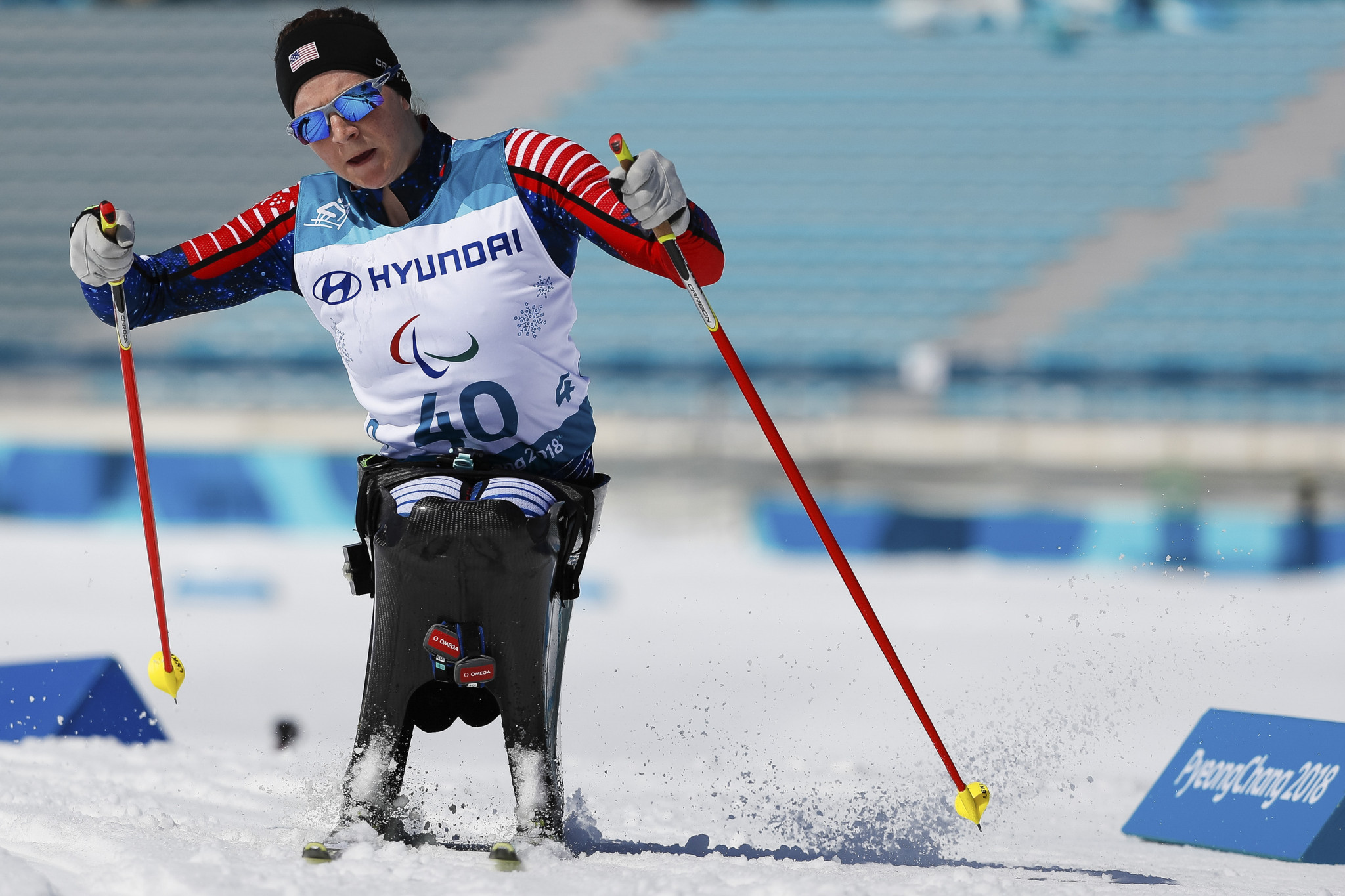 Kendall Gretsch of the United States won gold in the women's sitting individual biathlon at the World Para Nordic Skiing World Cup in Östersund ©Getty Images