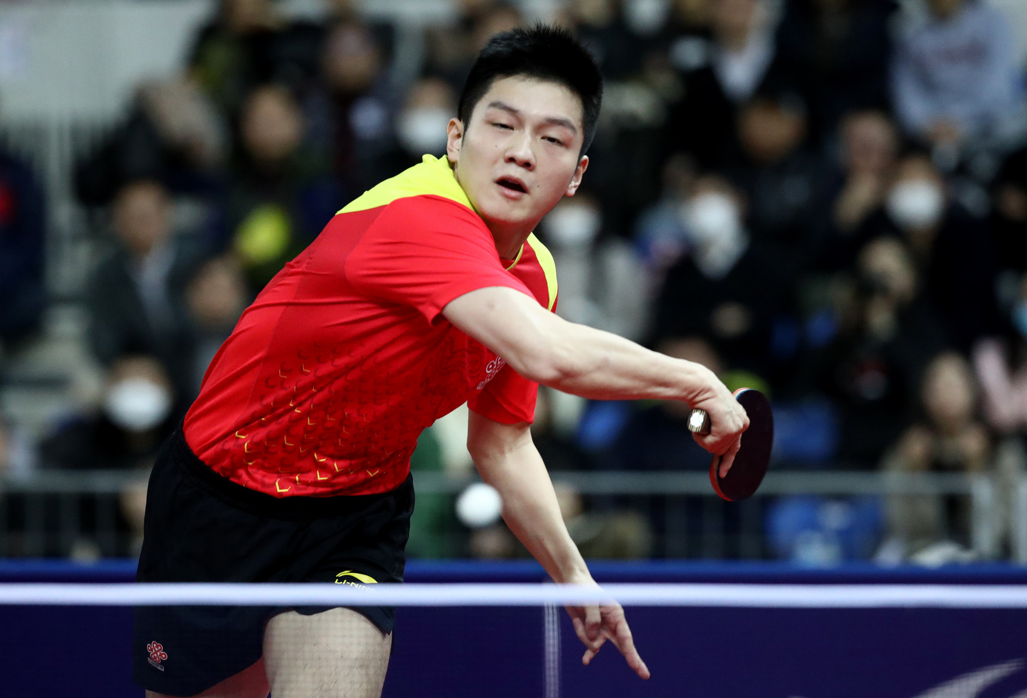 China's Fan Zhendong remains on course to retain the men's singles title ©Getty Images
