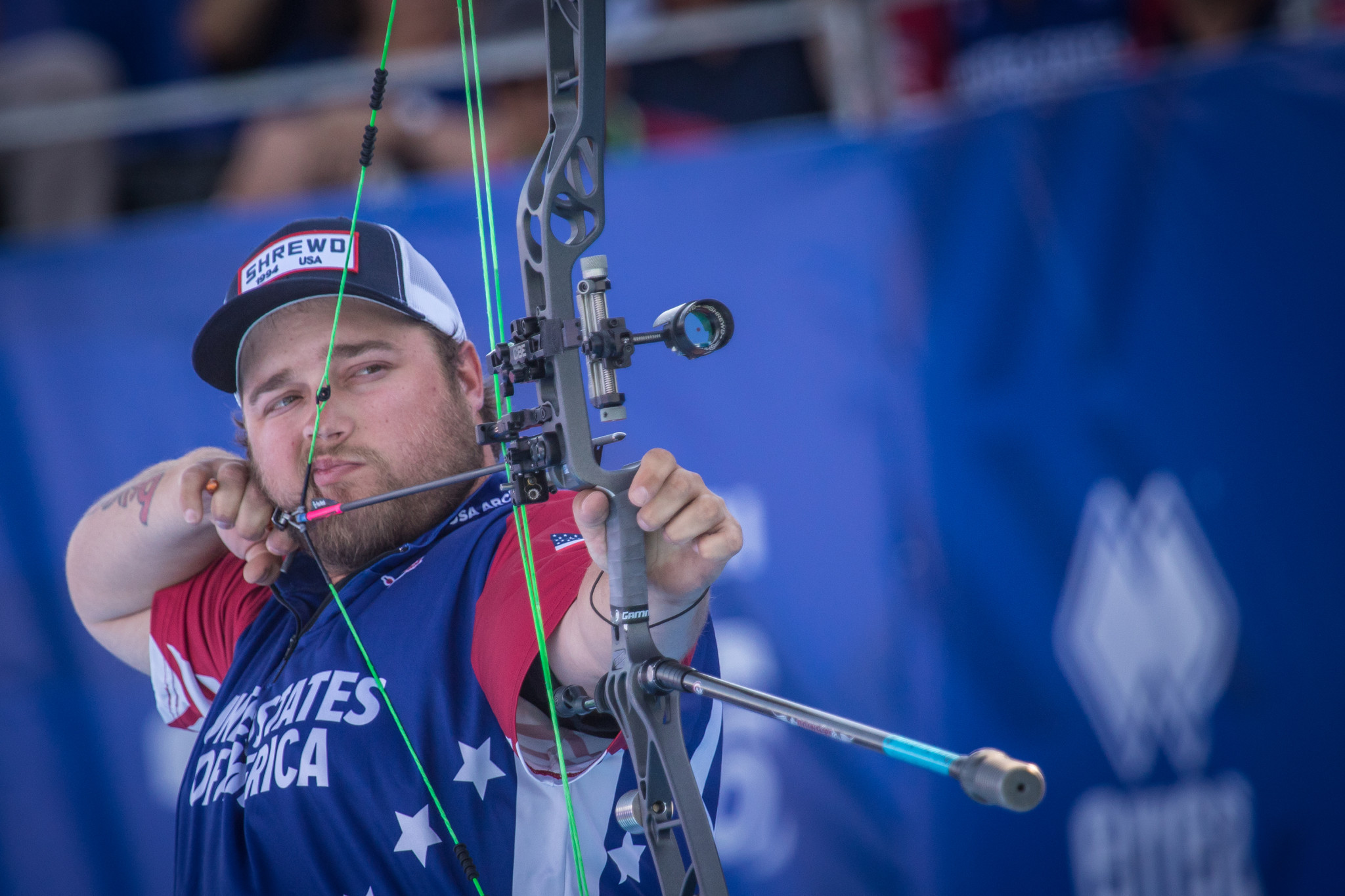 The United States' Kris Schaff was one of the stand-out performers in men's compound qualification ©Getty Images