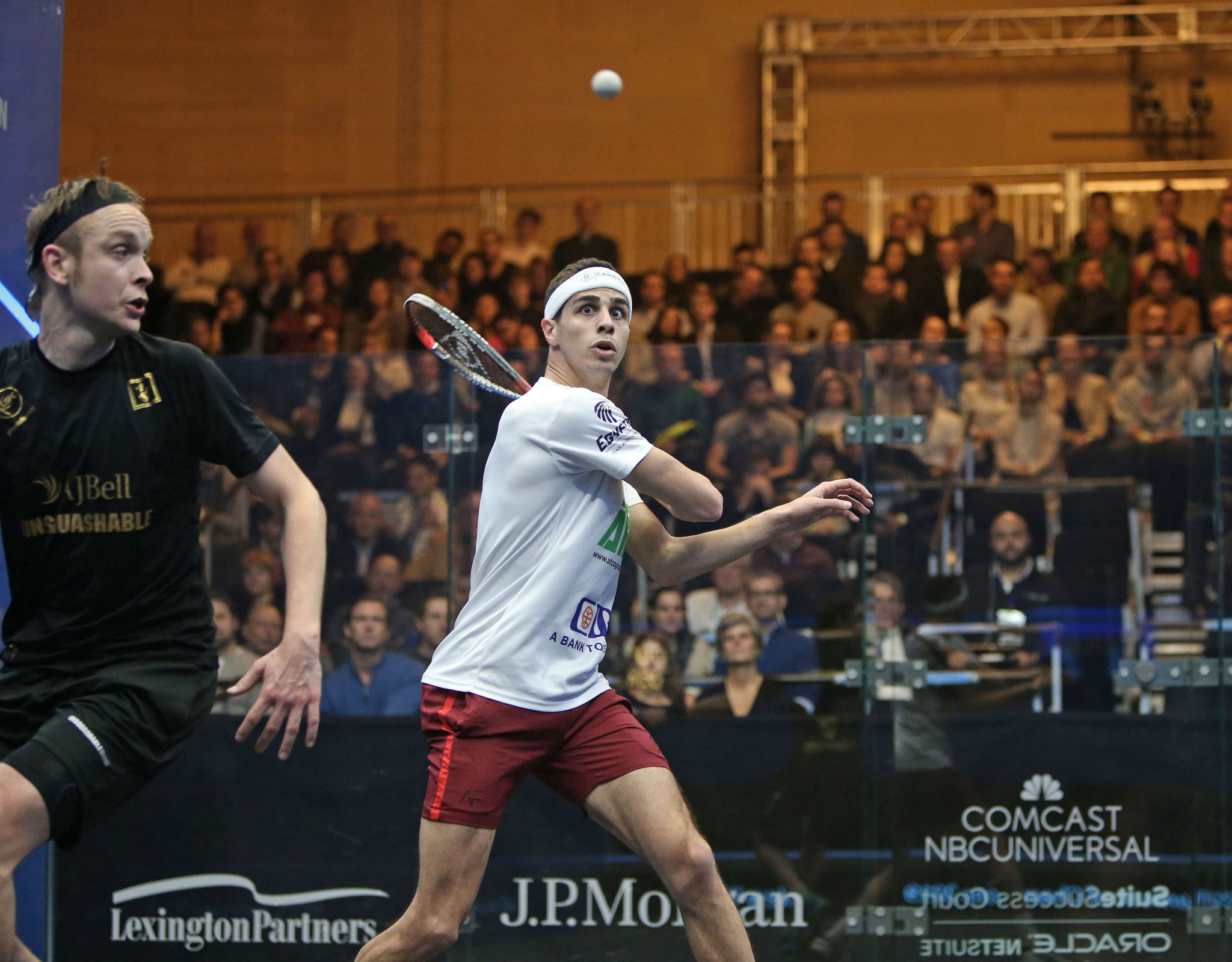 Farag books third round place with victory over Willstrop at PSA Tournament of Champions