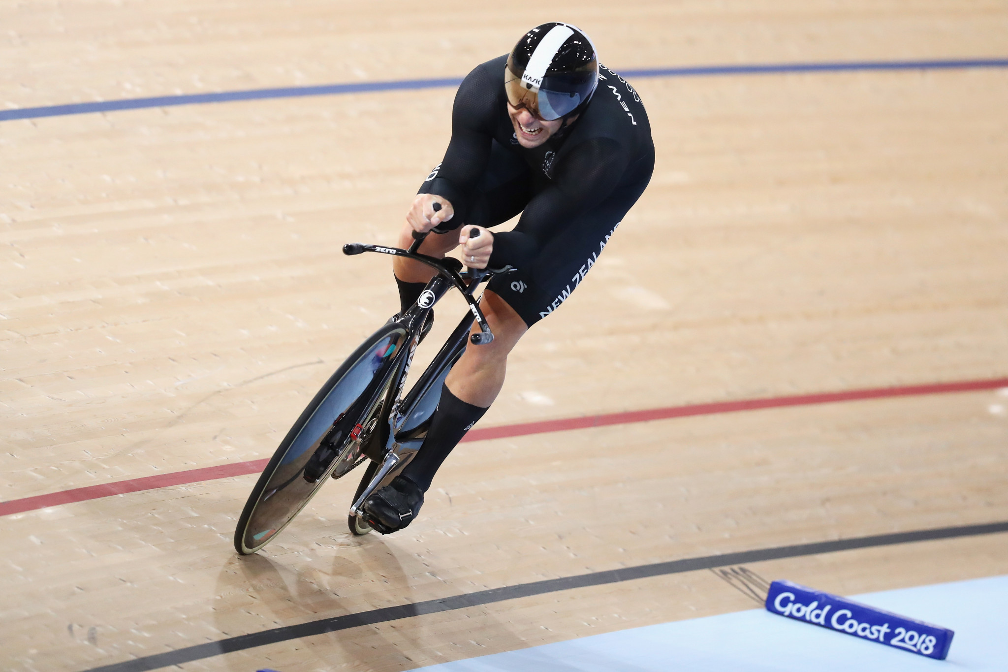 Eddie Dawkins won gold in the men's keirin today at the UCI Track Cycling World Cup in Cambridge ©Getty Images