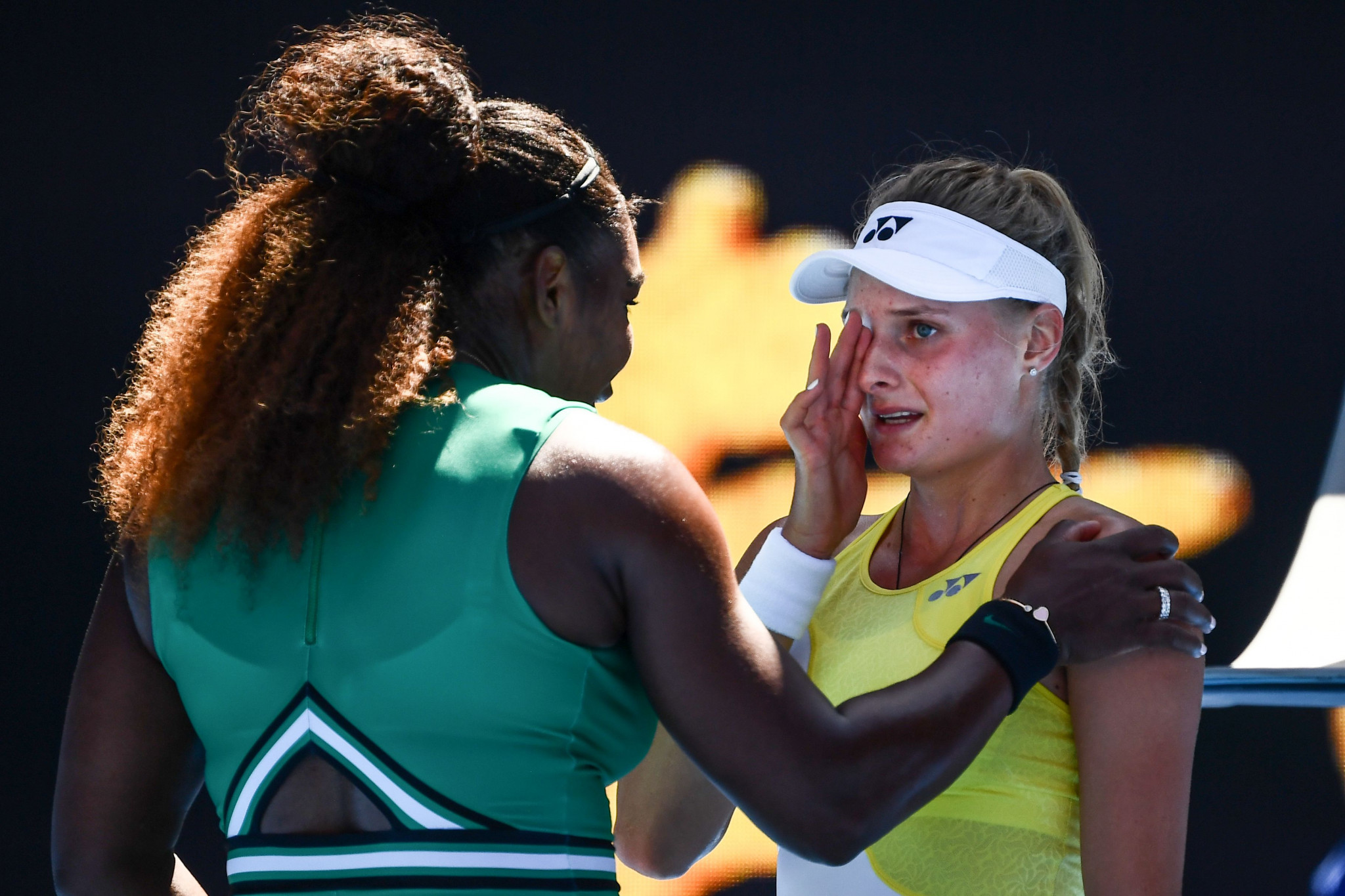 The seven-time champion comforted Ukrainian youngster Dayana Yastremska after her win ©Getty Images