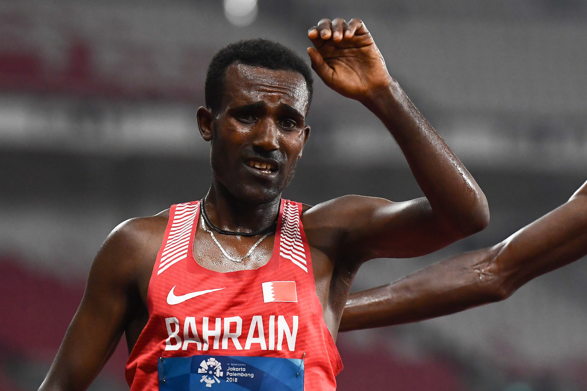 Ethiopian born Birhanu Balew won the men's race today at the IAAF Cross Country Permit meet in Antrim ©Getty Images