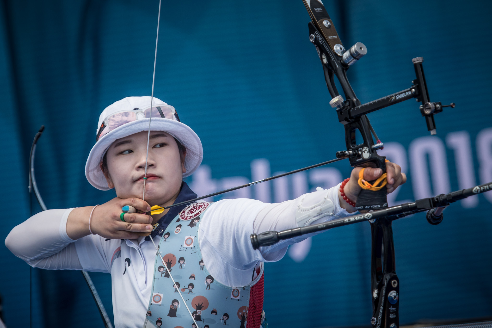 Kang Chae Young made it into the women's recurve final with ease at the Indoor Archery World Series event in Nimes ©Getty Images