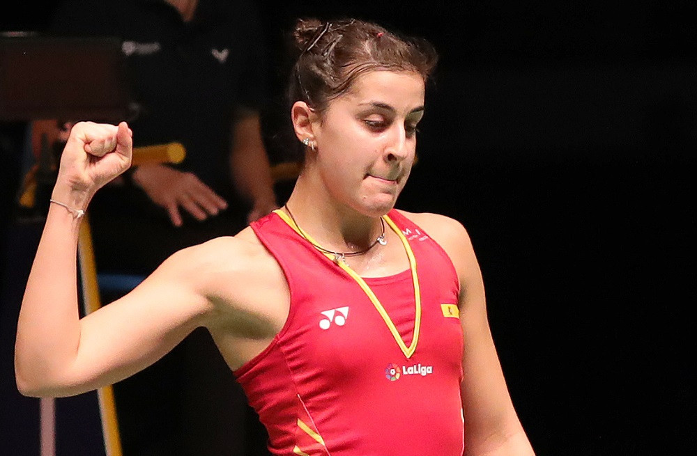 Spain's world champion Carolina Marin stands in the way of Thailand's Ratchanok Intanon successfully defending her BWF Malaysia Masters title tomorrow ©BWF