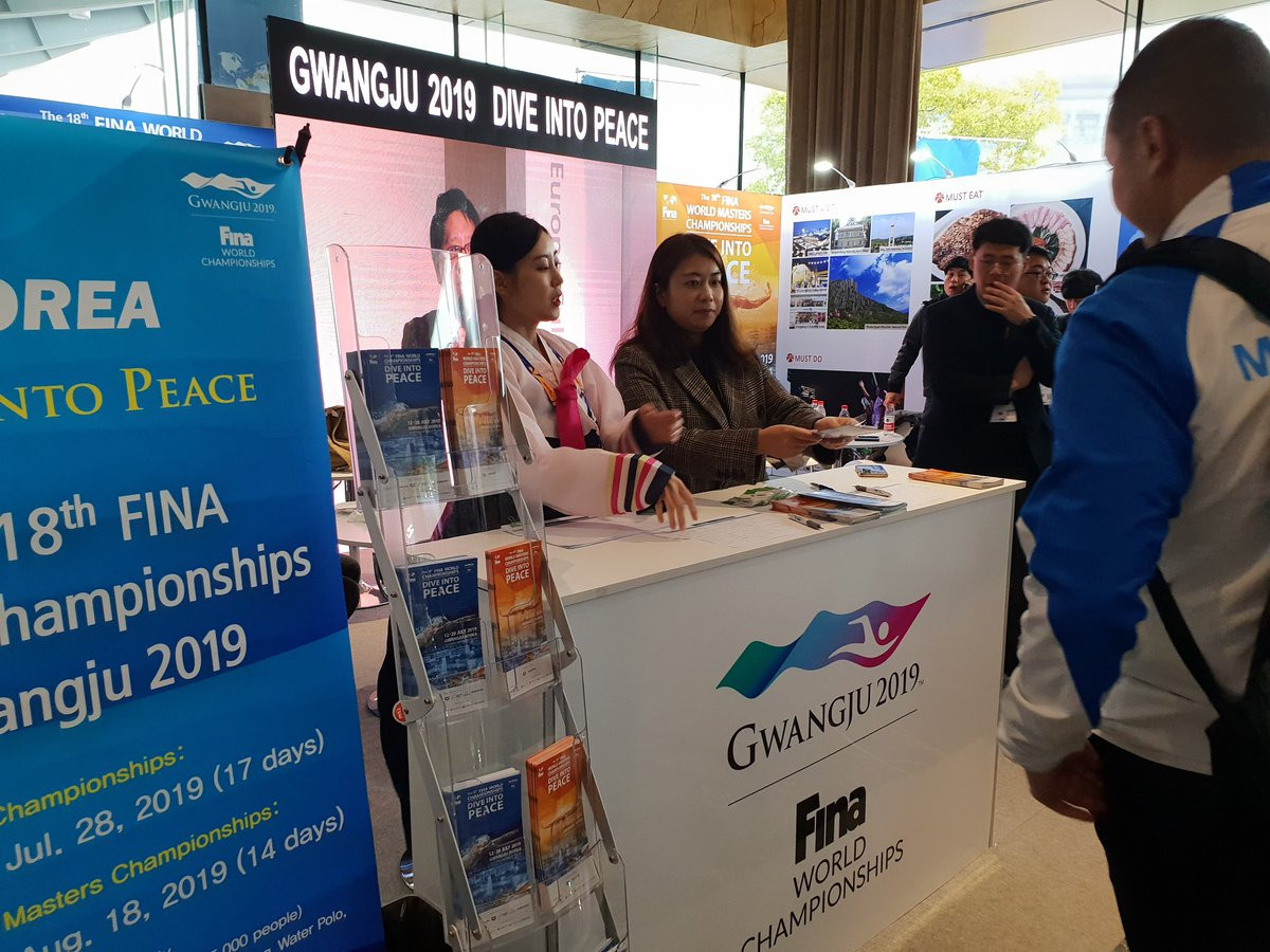 Gwangju 2019 has hosted visits from Swimming Federations around the world ahead of its hosting of the FINA World Championships in July this year ©Gwangju 2019