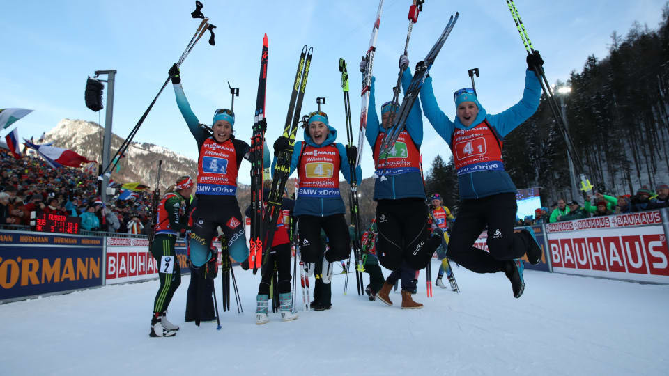 French women earn first relay gold in 25 years at IBU World Cup in Ruhpolding