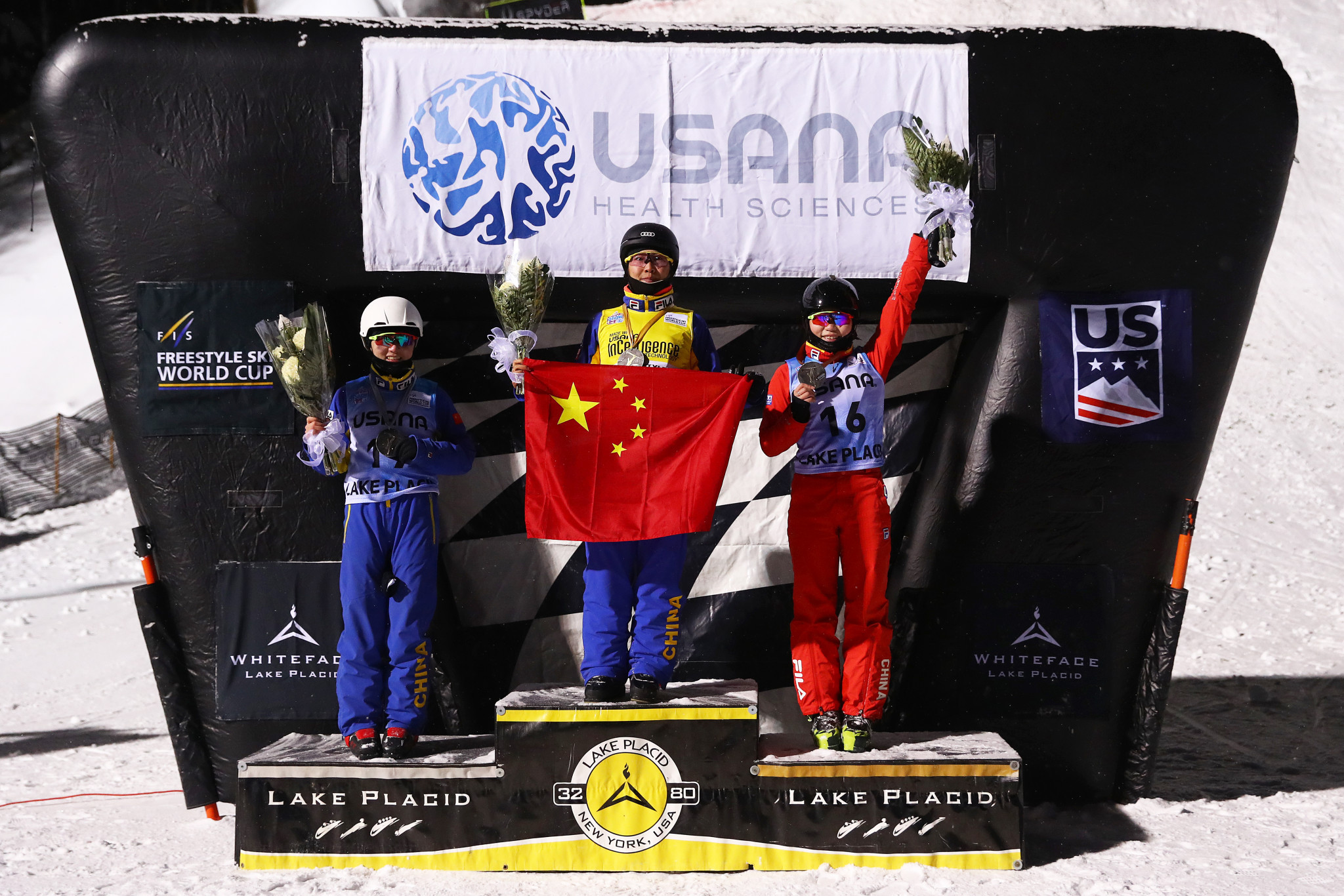China secure clean sweep of women's aerials podium at FIS Freestyle Skiing World Cup