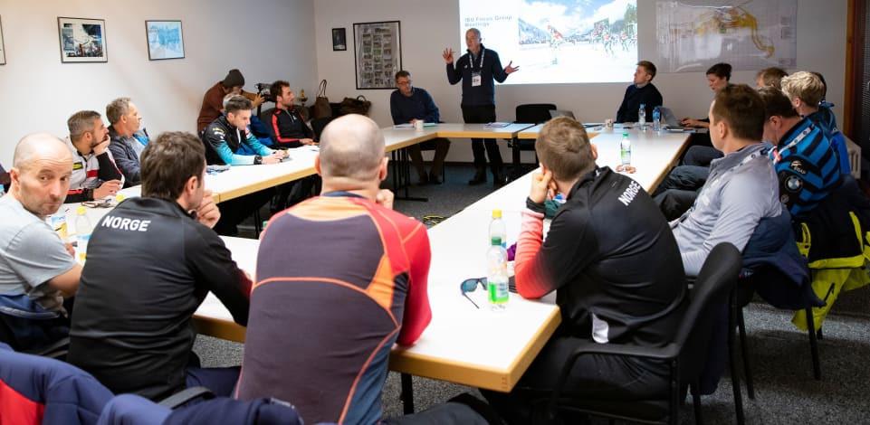 IBU President Olle Dahlin attended the focus groups last week ©IBU