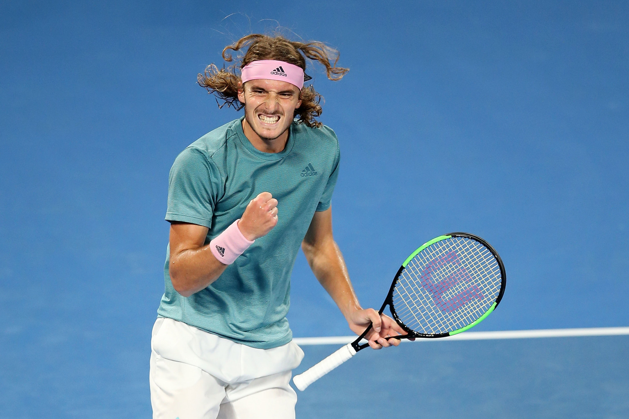 The Greek player earned a four set win over Roger Federer to reach the last eight ©Getty Images