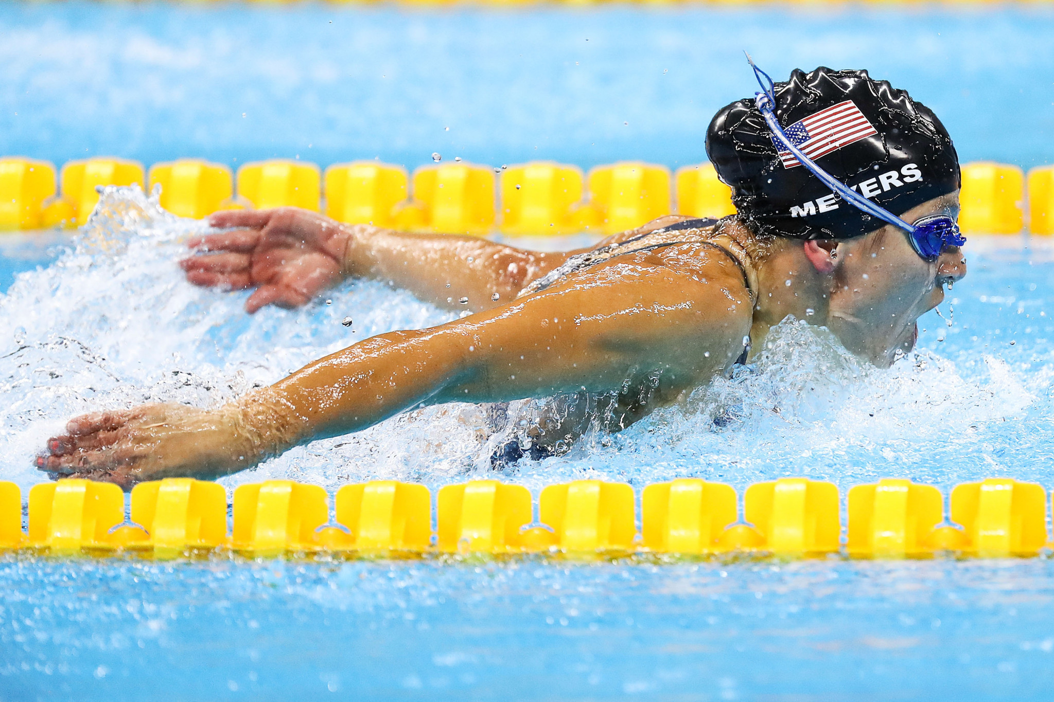 Six-time Paralympic medalist Rebecca Meyers has made the elite A subdivision in the 2019 US Paralympics Swimming National Team ©Getty Images