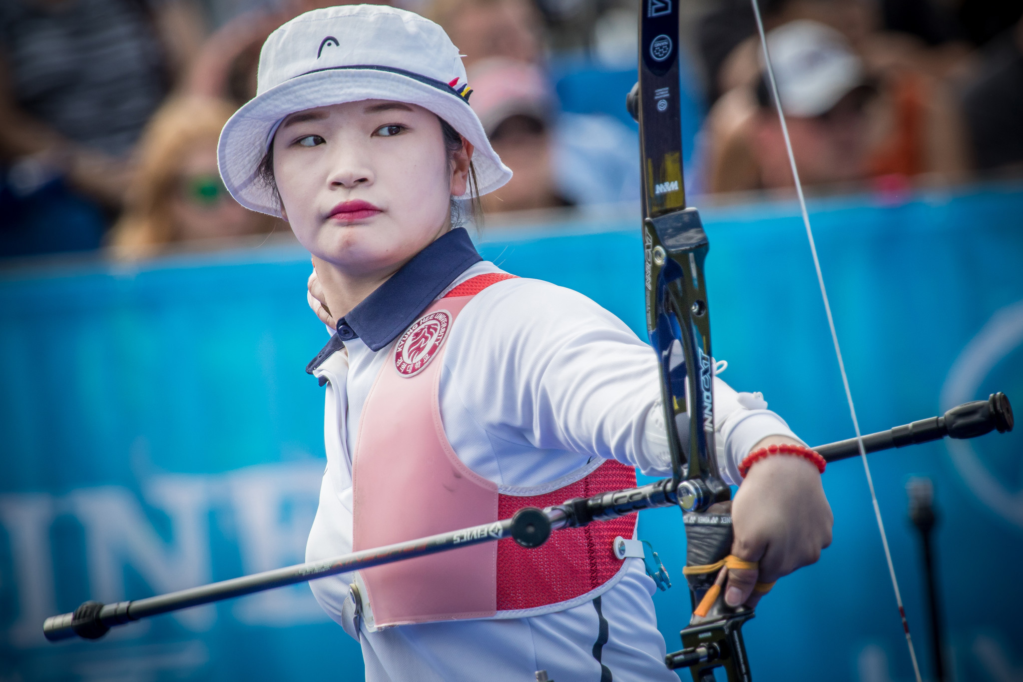 Kang Chae Young beat 14-year-old Casey Kaufhold to win the Indoor Archery World Series event in Nimes ©Getty Images
