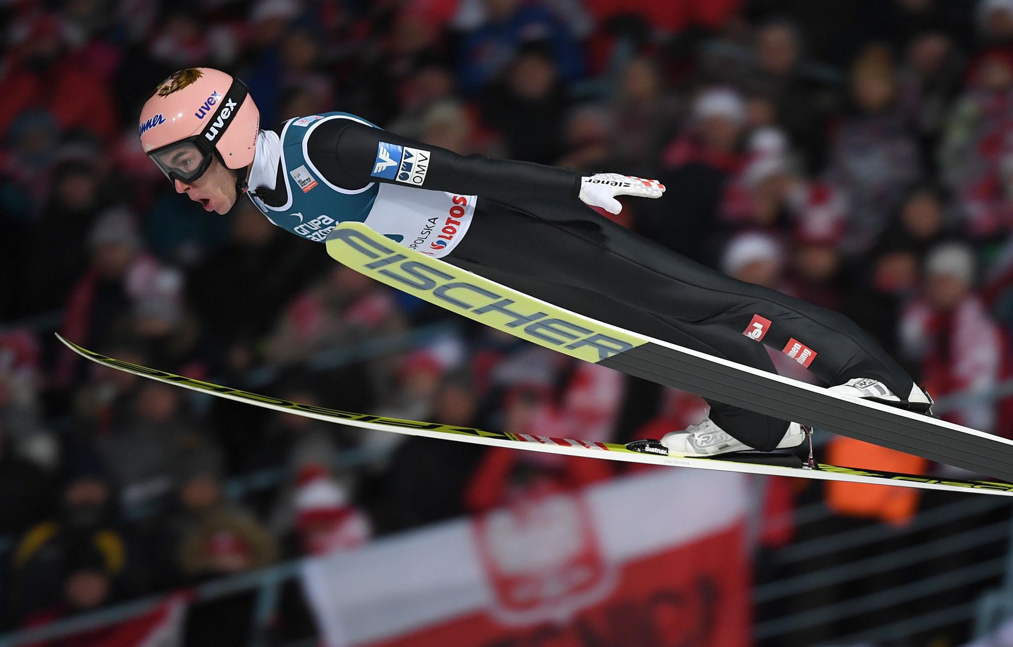 Austria's Stefan Kraft was triumphant in the men's event in Zakopane ©Getty Images