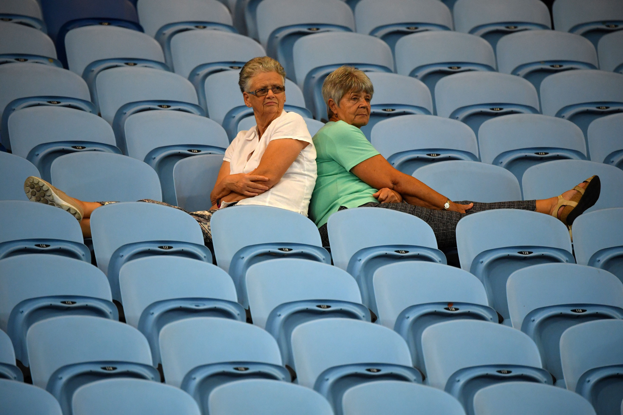 Spectators at the Australian Open have been forced to stay late for matches ©Getty Images