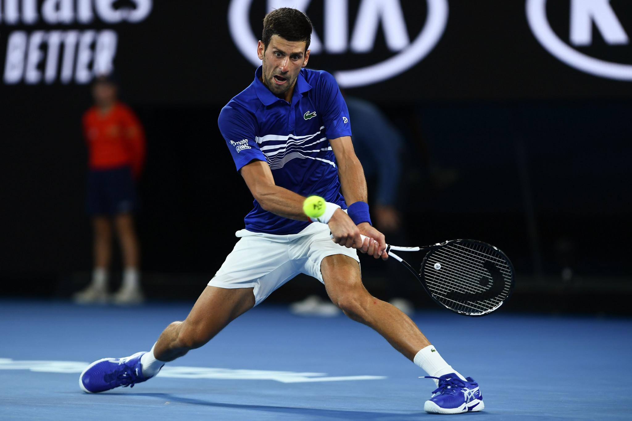 Novak Djokovic beat Daniil Medvedev in four sets in the men's singles event ©Getty Images
