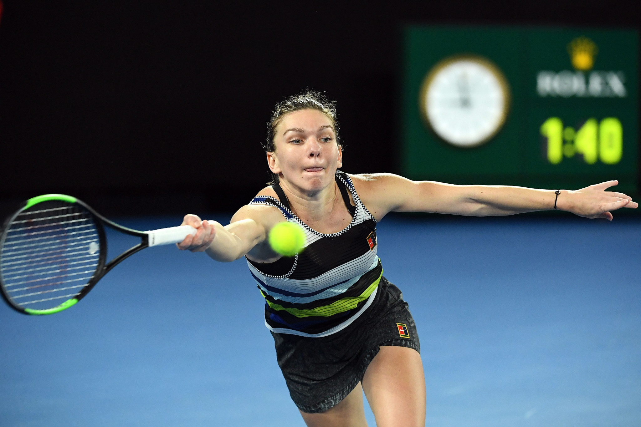 World number one Simona Halep was beaten in the fourth round of the women's singles ©Getty Images