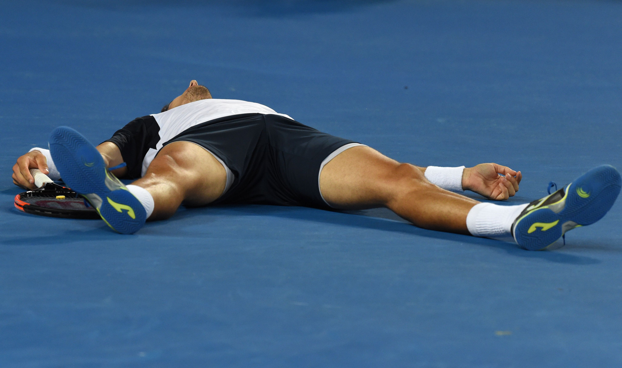 Pablo Carreno Busta showed exhaustion during the five set match with Nishikori ©Getty Images