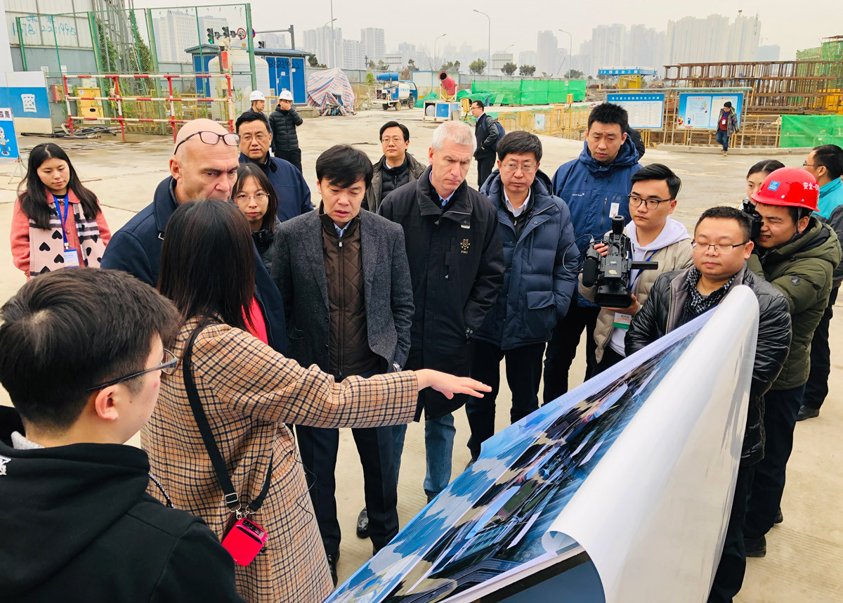 The FISU delegation visited several venues ©FISU