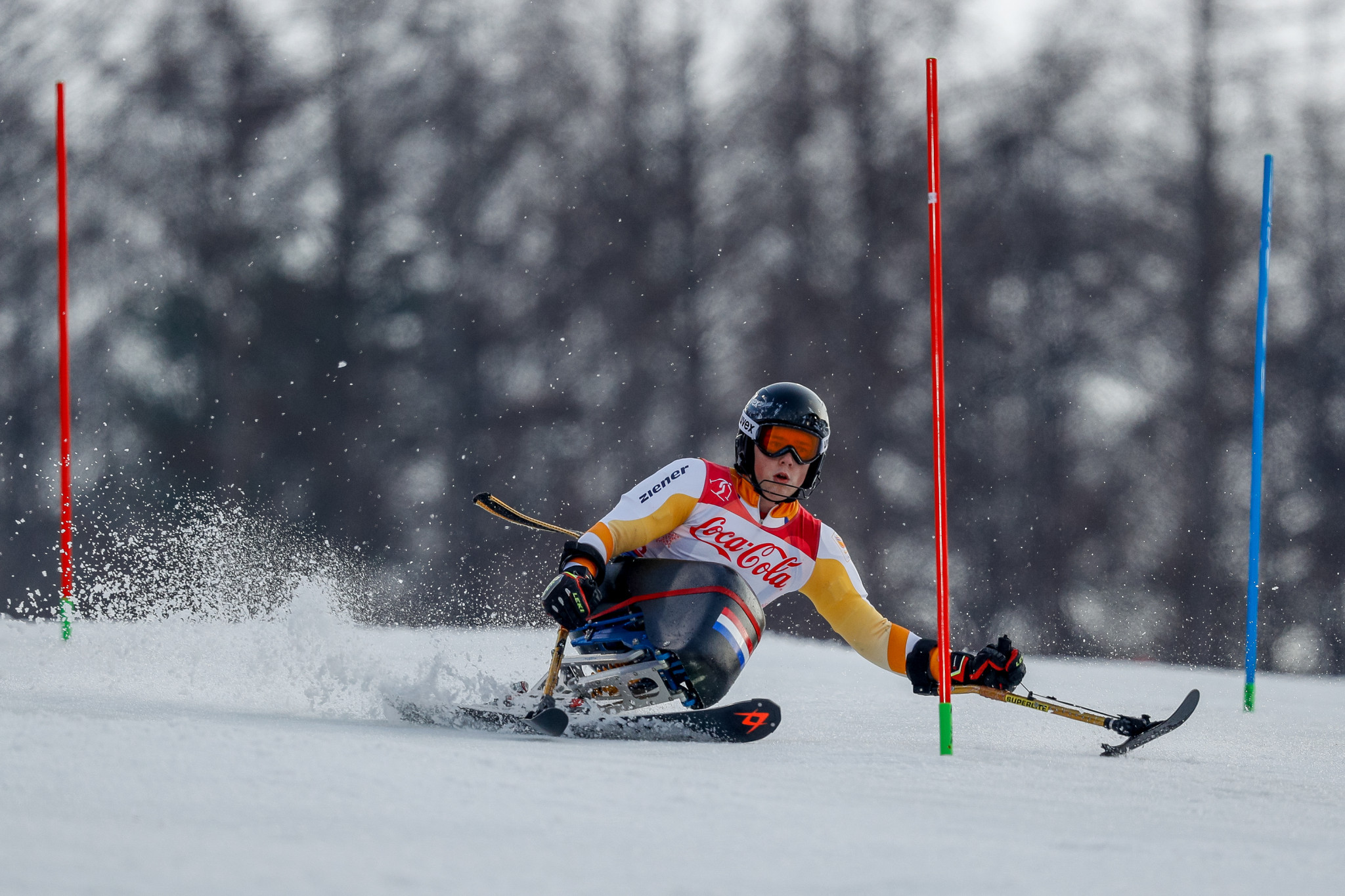 Kampschreur defends giant slalom title on opening day of World Para Alpine Skiing Championships