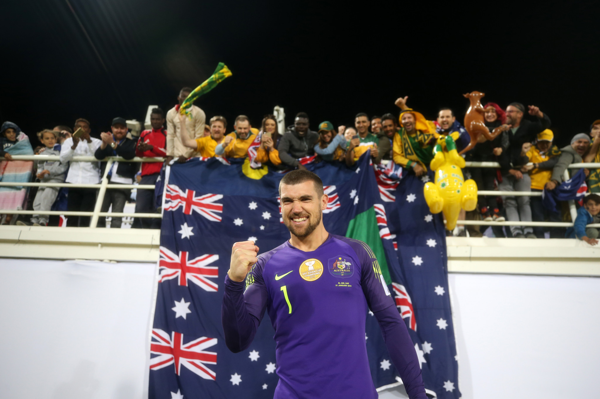 Matt Ryan was the hero as Australia beat Uzbekistan on penalties at the AFC Asian Cup ©Getty Images