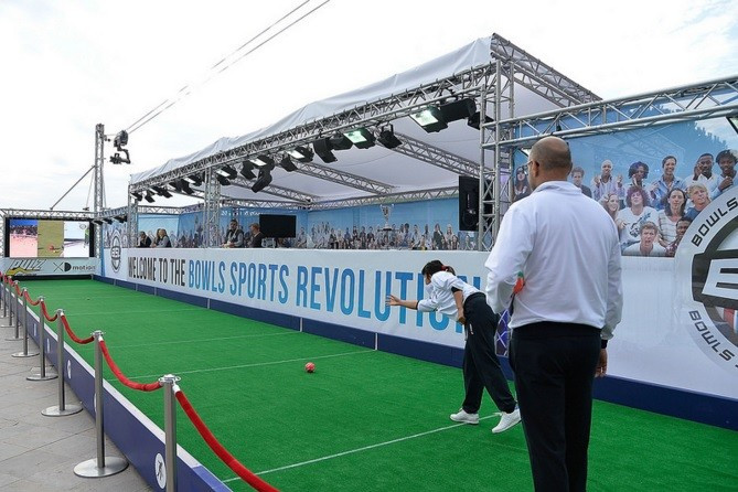The Bowls Sports League has had a strong presence at SPORTEL and offered participants the chance to try out the various disciplines during the convention