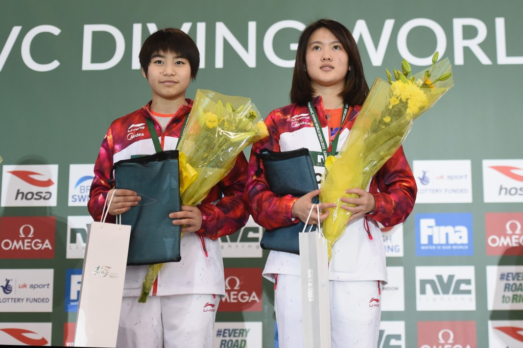 Ruolin Chen (left) and Huixia Liu (right) triumphed in the women's 10m synchronised platform ©Getty Images