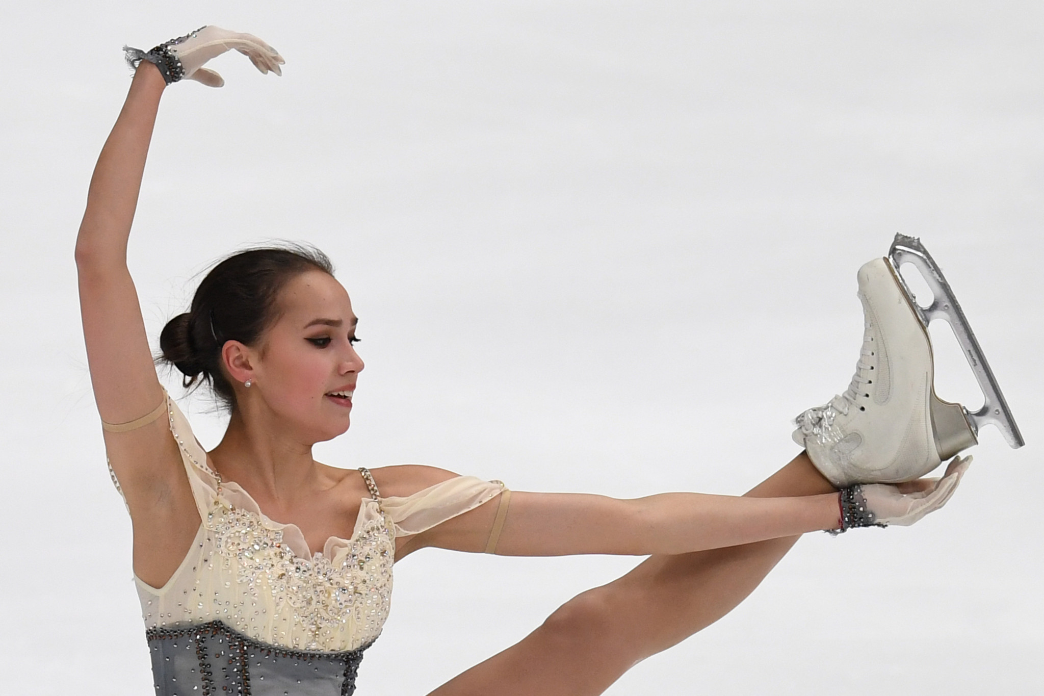 Russia's Alina Zagitova will aim to defend her ladies title ©Getty Images