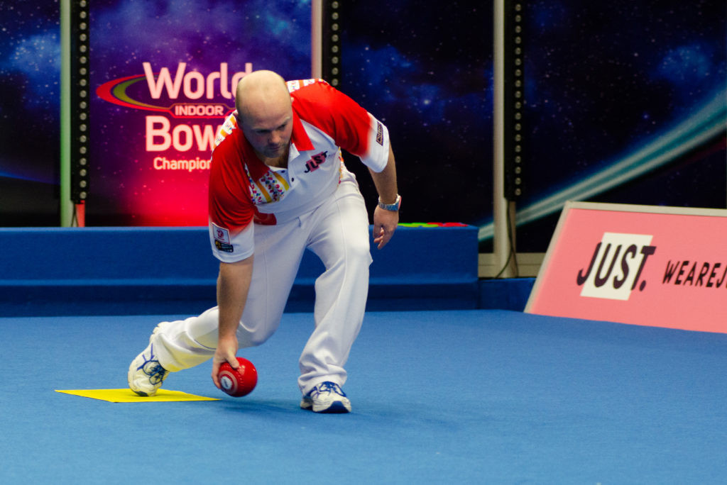 Scotland's Stewart Anderson was among the players to book their place in the quarter-finals of the men's singles event ©World Bowls Tour