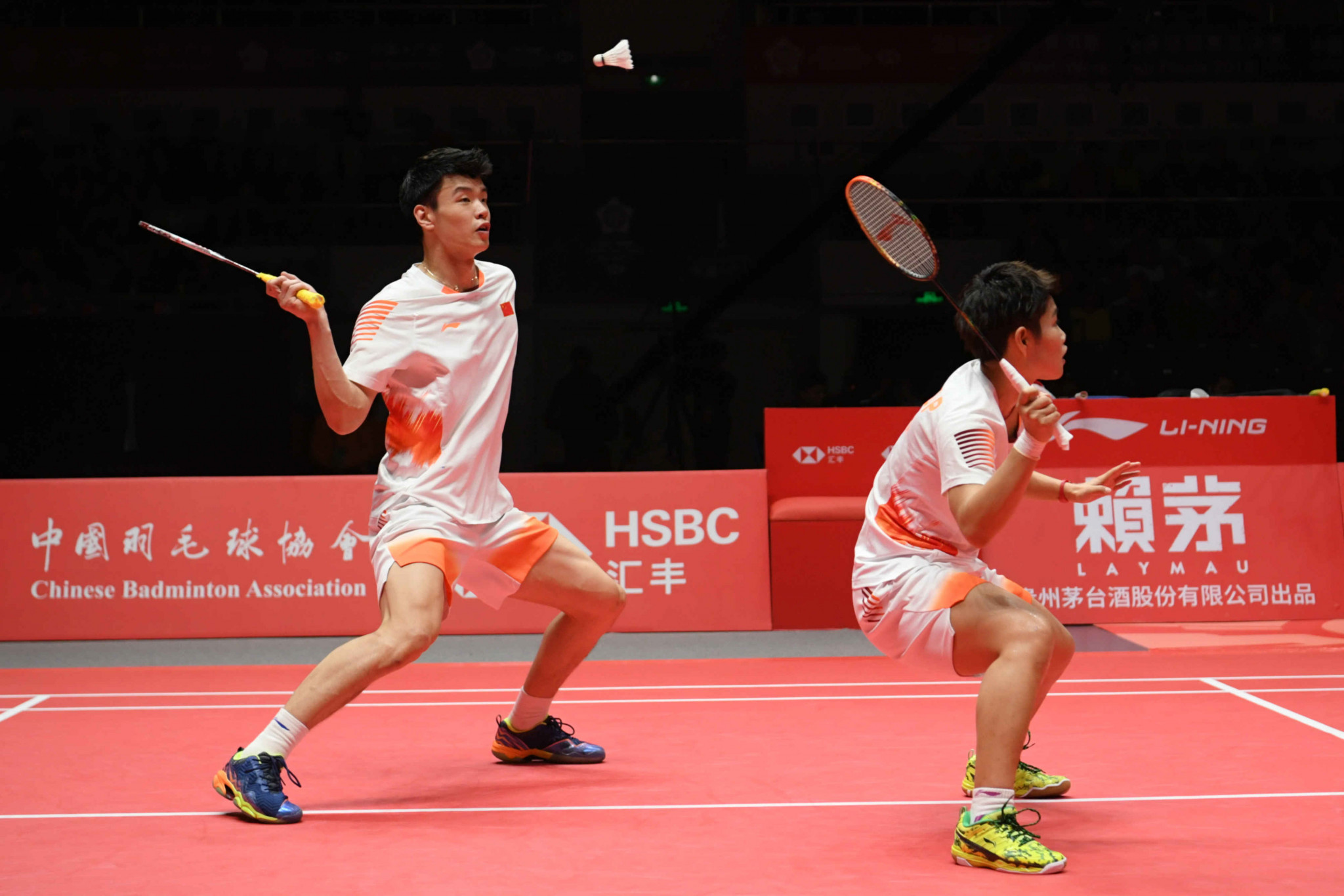 Reigning mixed doubles world champions Zheng Siwei and Huang Yaqiong survived a scare as they booked their place in the second round ©Getty Images