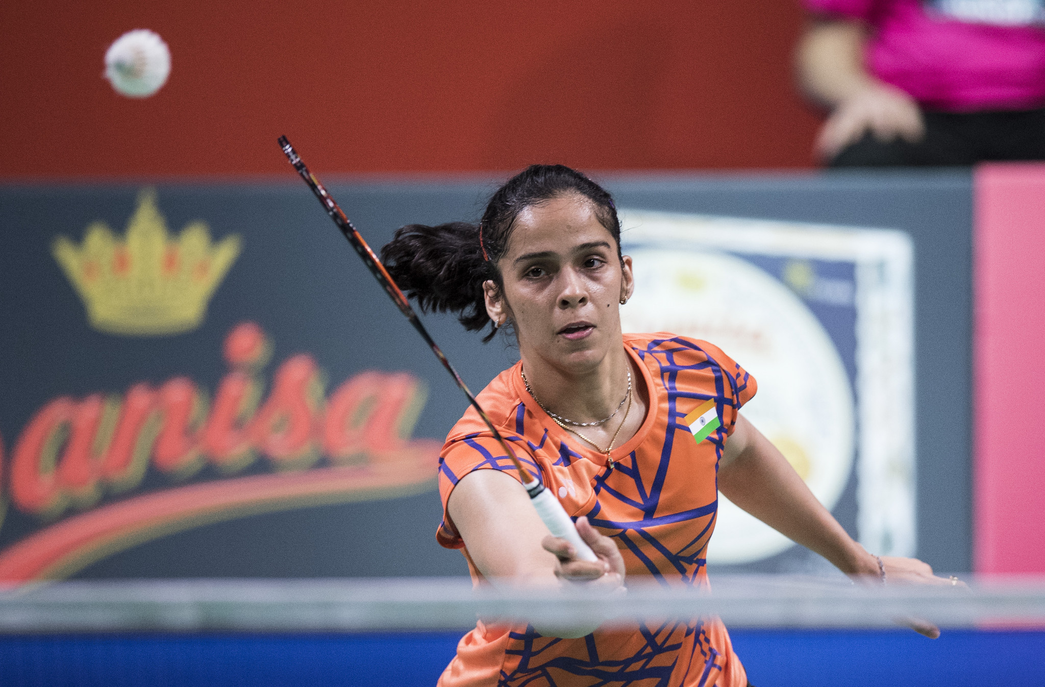 Seventh seed Saina Nehwal is through to the second round of the women's singles event ©Getty Images