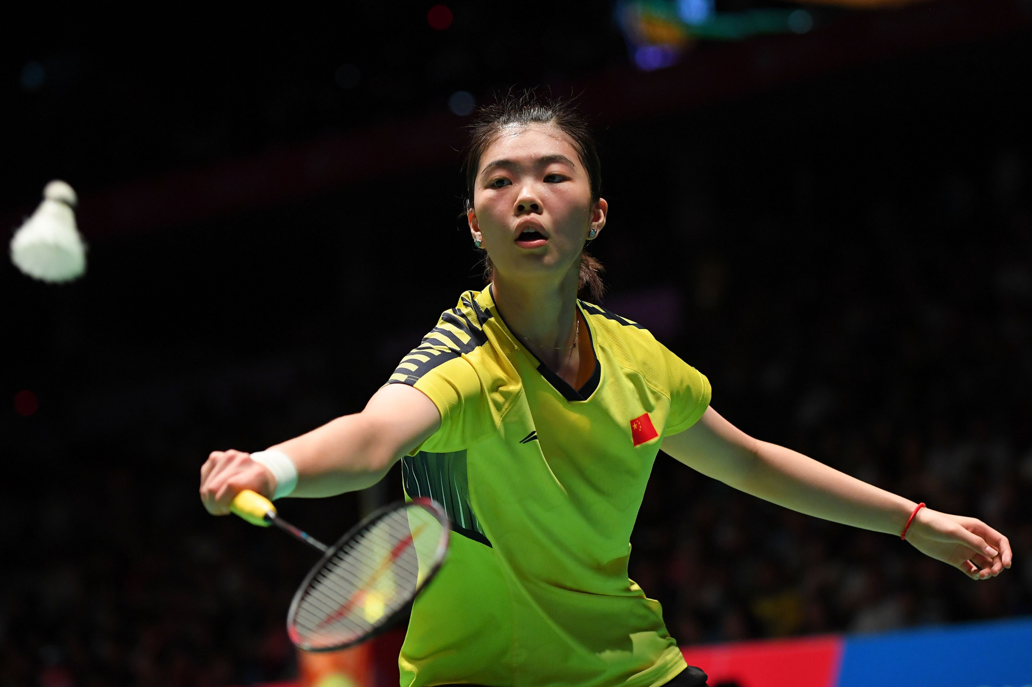 China's Gao Fangjie retired injured from her match against Spain's Carolina Marin ©Getty Images