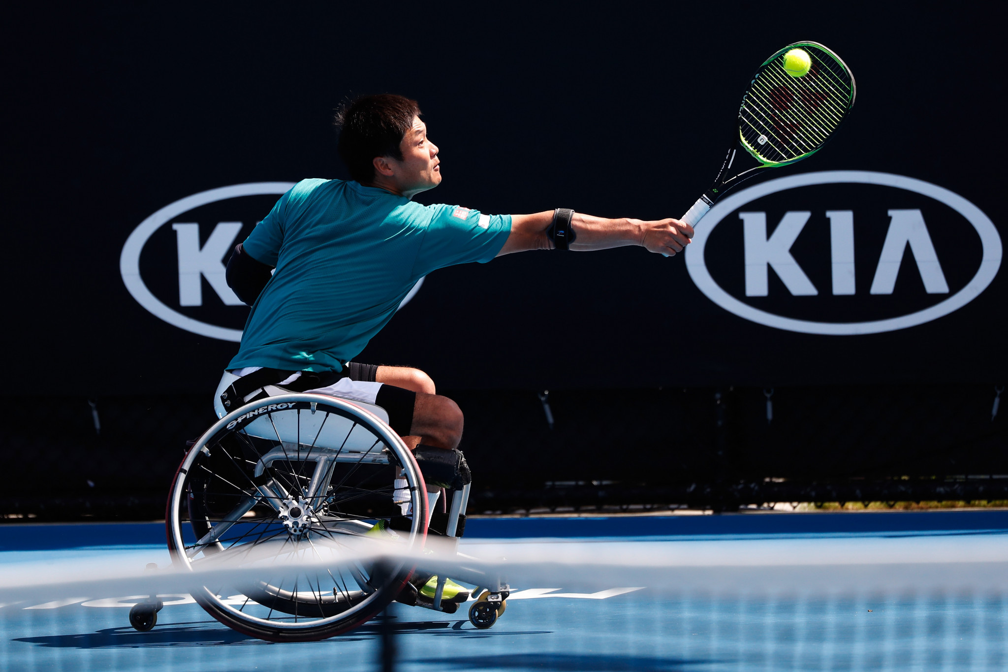 Defending champion Shingo Kunieda of Japan beat Britain's Alfie Hewett in his opening match of the Australian Open wheelchair competition ©Getty Images