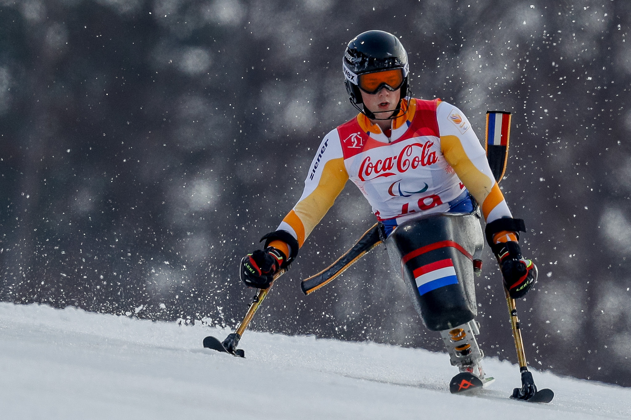 The Netherlands' Jeroen Kampschreur defended his world title in the men's slalom sitting event ©Getty Images