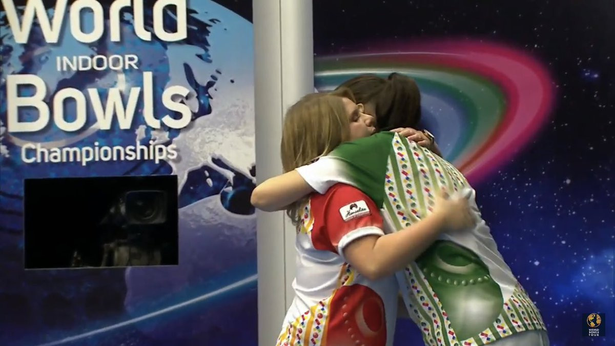 England's Katherine Rednall saw her bid to defend the women's singles title at the World Indoor Bowls Championships come to an end today after losing to Scotland's Julie Forrest in the semi-finals ©Bowls Worldwide/Twitter