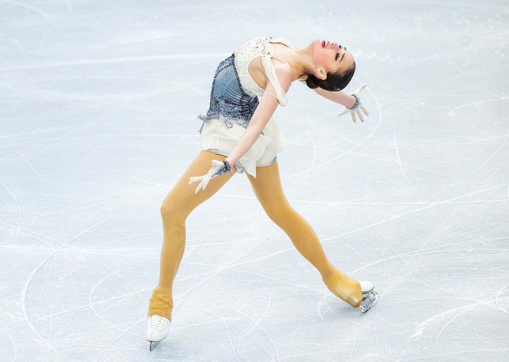 European and Olympic champion Alina Zagitova of Russia won the women's short event at the ISU European Figure Skating Championships in Minsk ©ISU