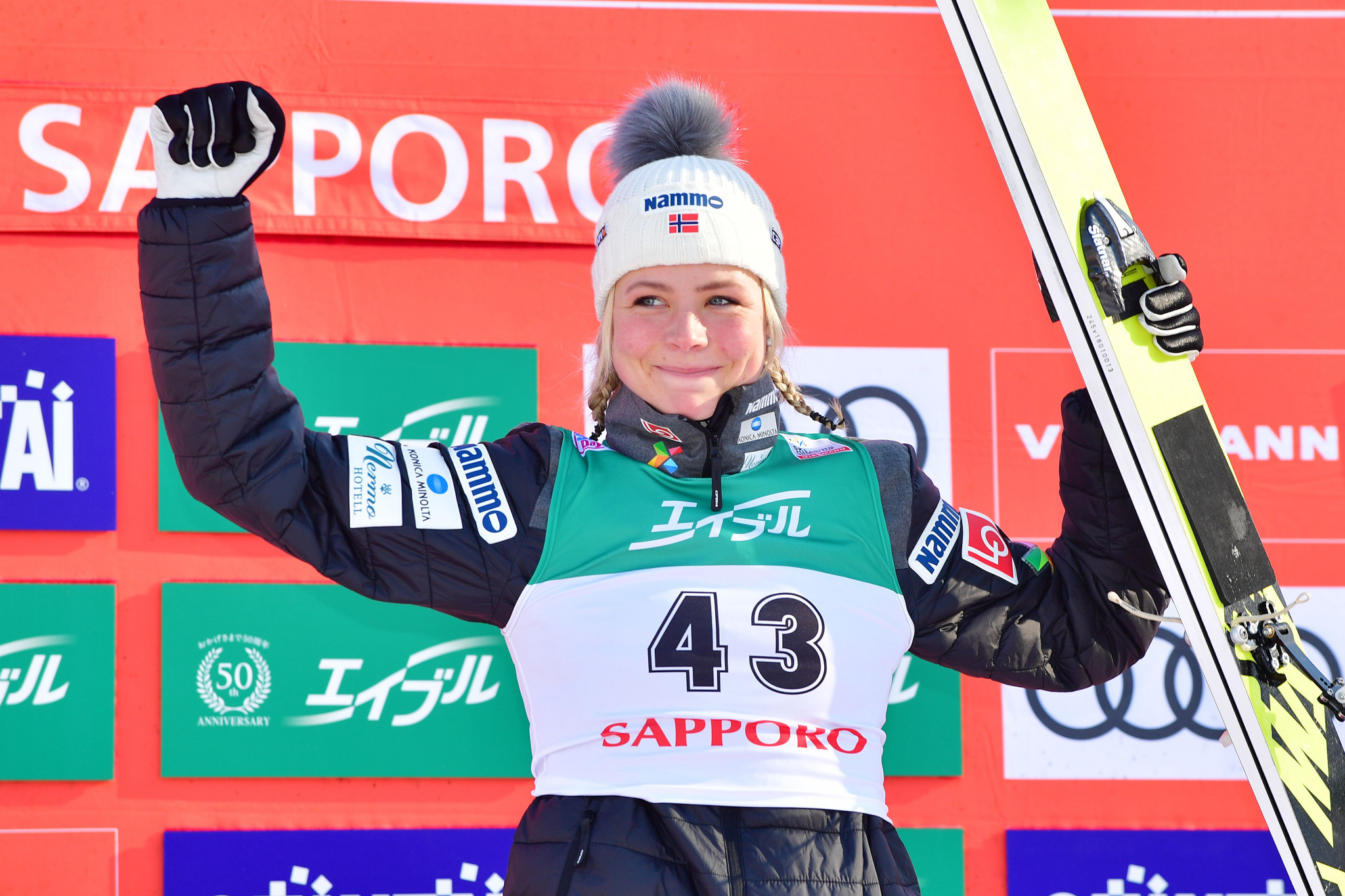 Olympic champion Maren Lundby will seek another win on the women's circuit in Rasnov ©Getty Images