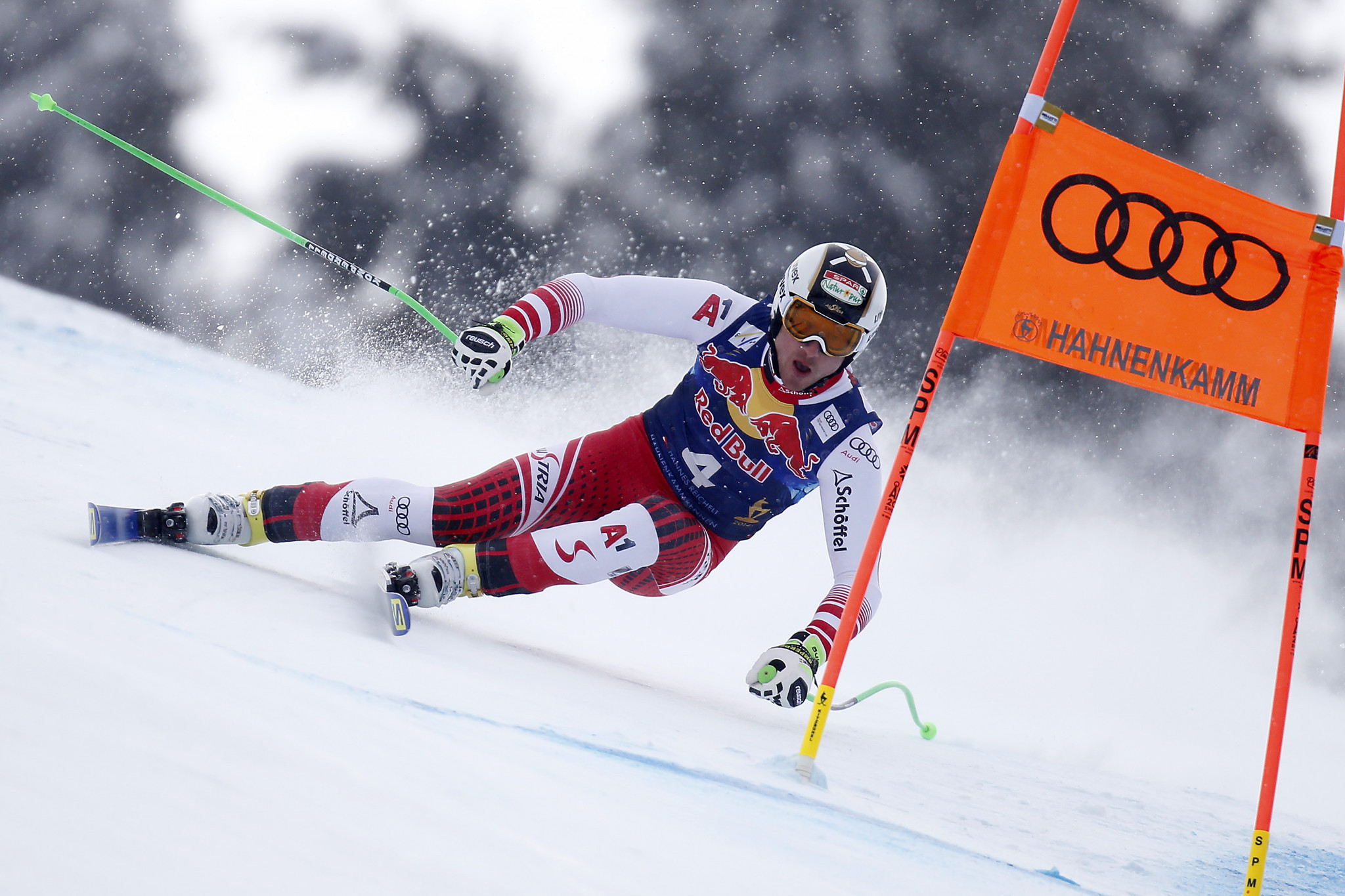 Austria's Reichelt tops final downhill training standings prior to FIS Alpine Skiing World Cup in Kitzbühel