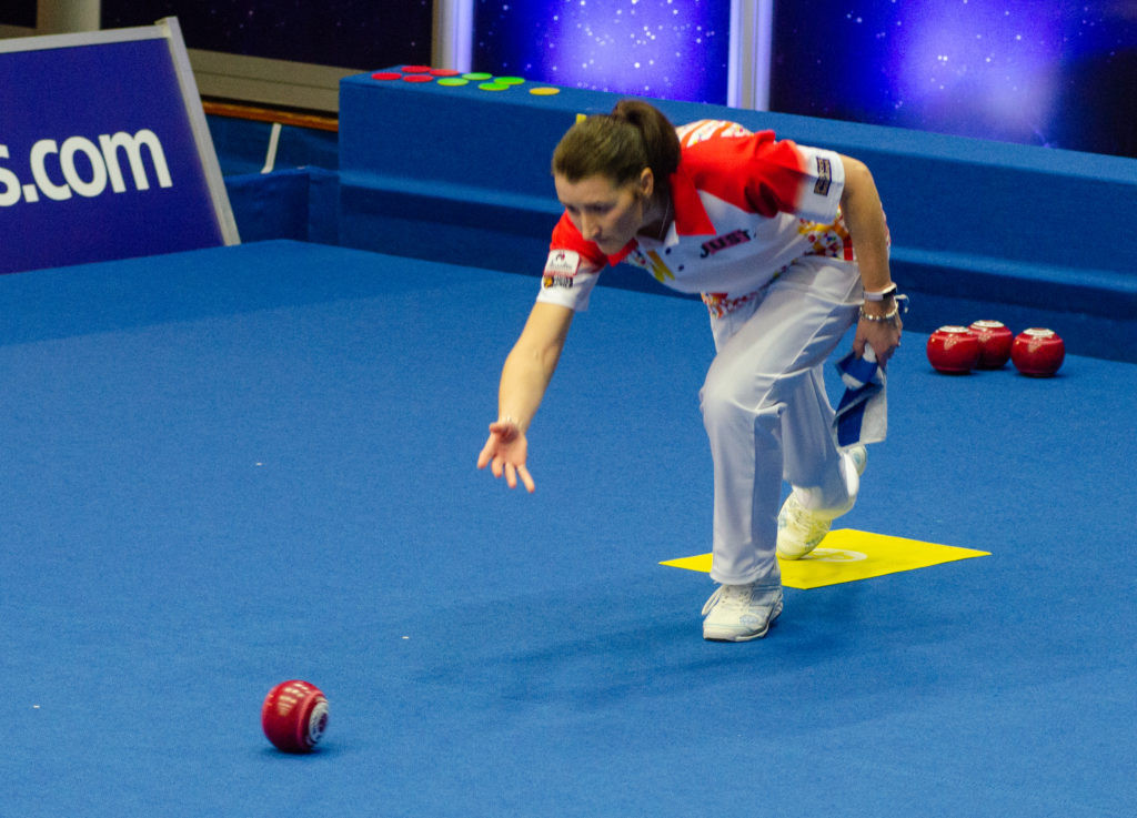 Scotland's Julie Forrest clinched her first women's singles title at the World Indoor Bowls Championships after beating Guernsey's Alison Merrien in the final in Norfolk today ©World Bowls Tour