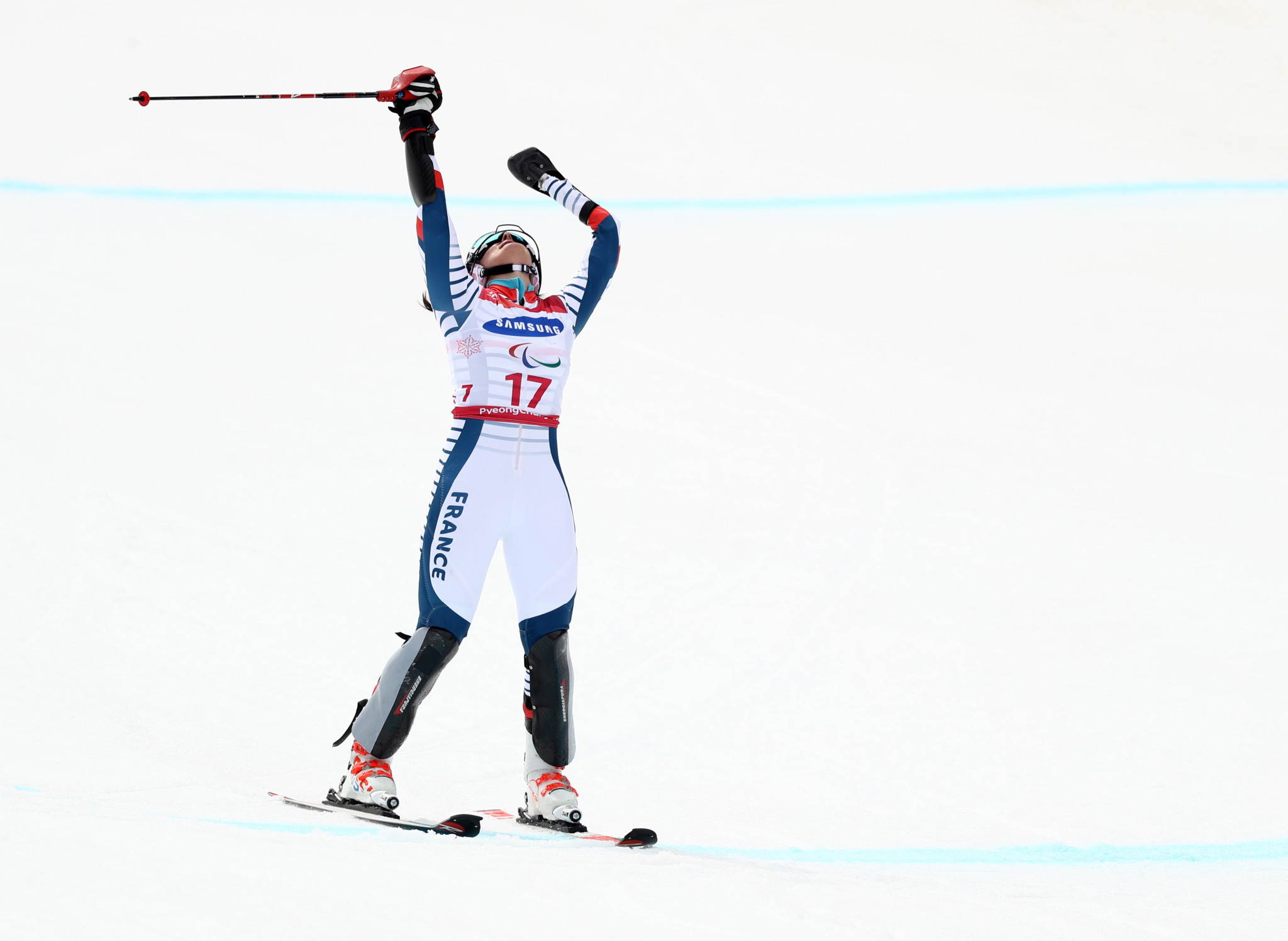 Marie Bochet won her second gold at the 2019 World Para Alpine Skiing Championships in the women's standing slalom ©Getty Images
