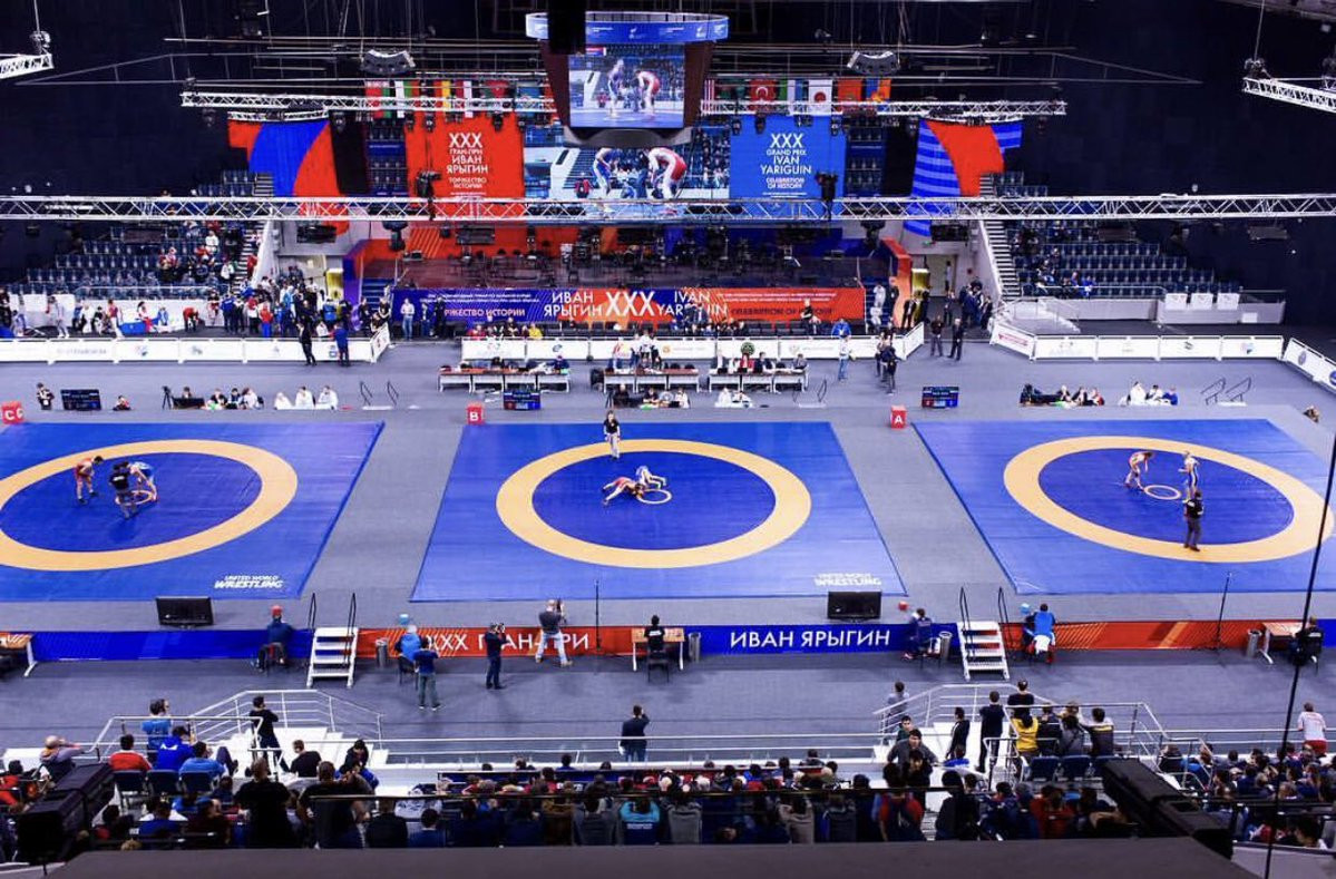 The UWW Ivan Yariguin Grand Prix is taking place at the Football Arena Yenisei in Krasnoyarsk ©UWW
