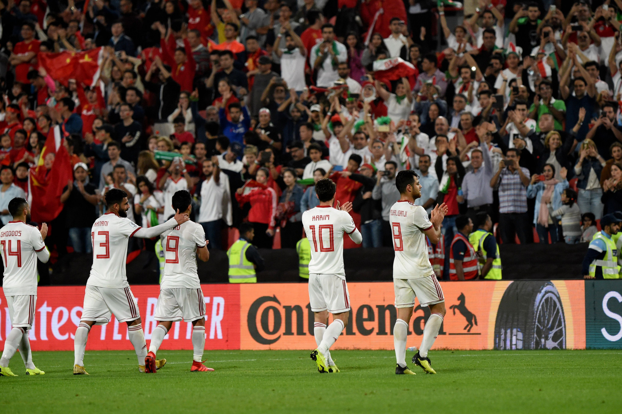 Iran kept themselves on course for a first AFC Asian Cup title since 1976 by beating China 3-0 in the quarter-finals today ©Getty Images